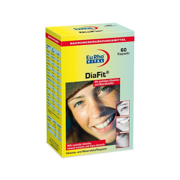 خرید قیمت فروش نحوه استفاده کپسول دیافیت یوروویتال ۶۰ عددی