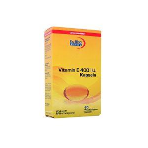 کپسول ویتامین E 400 واحد یوروویتال ۶۰ عدد
