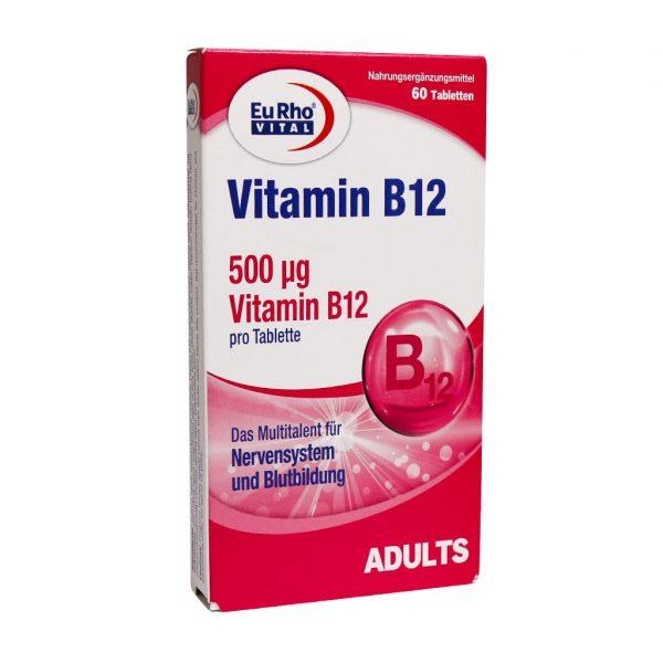خرید قیمت فروش نحوه استفاده قرص ویتامین B12 یوروویتال 60 عددی