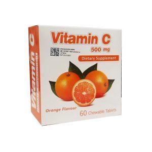 قرص جویدنی ویتامین C 500 میلی گرم سیمرغ دارو عطار 60 عدد