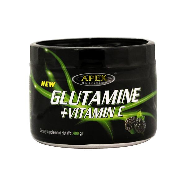 خرید قیمت فروش نحوه استفاده پودر گلوتامین + ویتامین C اپکس