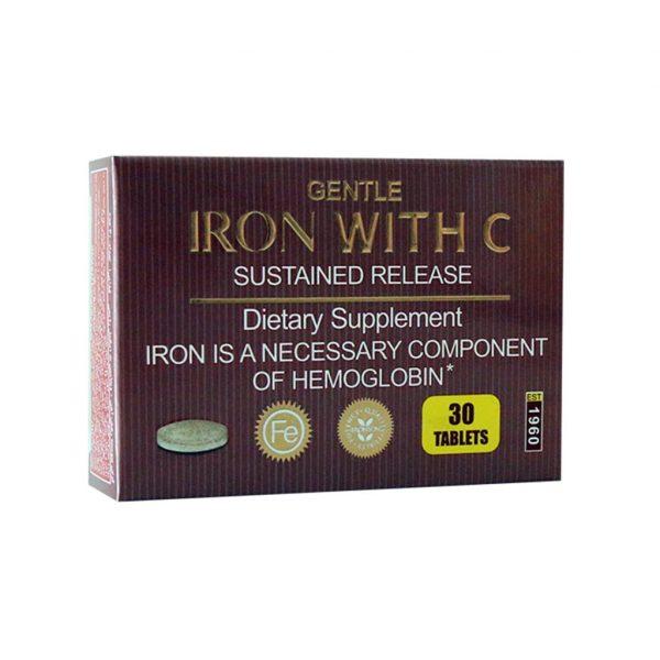 قرص آهن با ویتامین C برانسون ۳۰ عدد