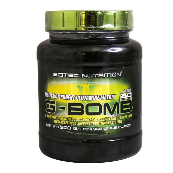 خرید قیمت فروش نحوه استفاده گلوتامین جی بمب سایتک نوتریشن 500 گرم