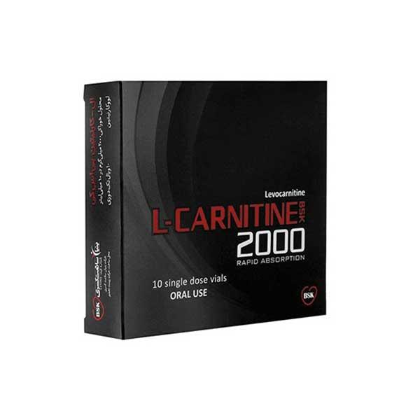 محلول خوراکی ال کارنیتین 2000 بنیان سلامت کسری 10 عدد