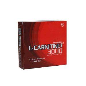 ویال خوراکی ال کارنیتین 3000 بی اس کی 10 عدد