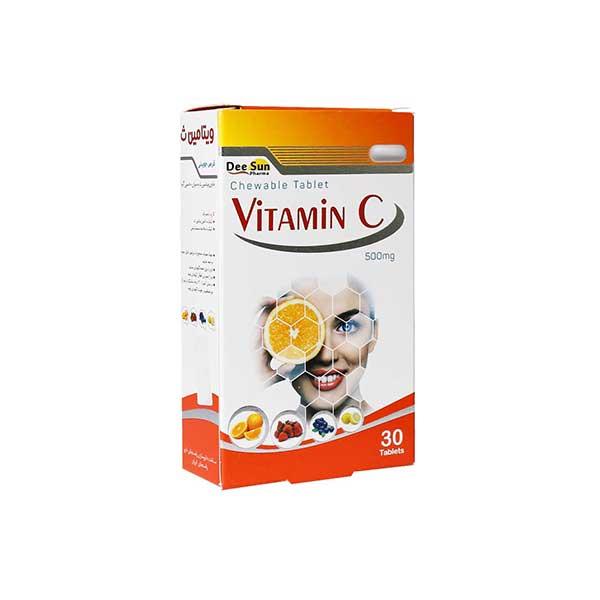 قرص جویدنی ویتامین C 500 دی سان فارما 30 عدد
