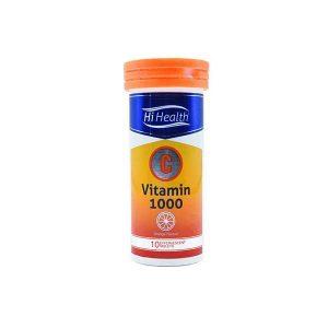 قرص جوشان ویتامین C 1000 میلی گرمی های هلث 10 عدد