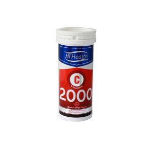 قرص جوشان ویتامین C 2000 های هلث 10 عدد