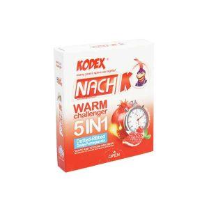 کاندوم تاخیری کدکس 3 عددی مدل Warm Challenger 5in1