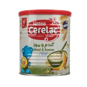 سرلاک گندم و موز به همراه شیر نستله از پایان 7 ماهگی 400 گرم