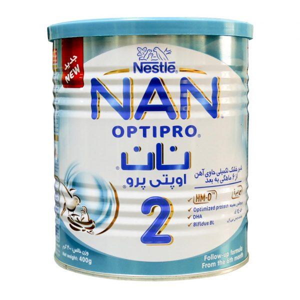 شیر خشک نان ۲ نستله مناسب ۶ تا ۱۲ ماهگی ۴۰۰ گرم