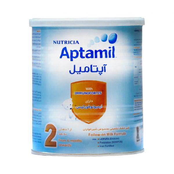 شیر خشک آپتامیل ۲ نوتریشیا مناسب شیرخوران ۶ تا ۱۲ ماه ۴۰۰ گرم