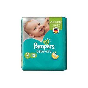 پوشک سایز ۲ پمپرز مدل Baby Dry بسته ۳۳ عددی