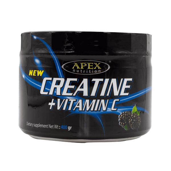 خرید قیمت فروش نحوه استفاده پودر عضله سازی کراتین + ویتامین C اپکس