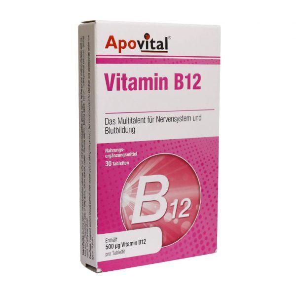قرص ویتامین B12 آپوویتال 30 عدد