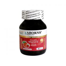 قرص جویدنی ویتامین C ابورنز 50 عدد