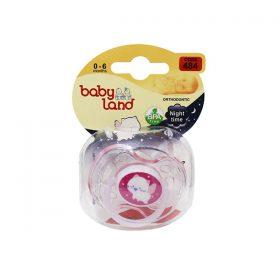 پستانک ارتودنسی شب تاب بیبی لند کد 484 مناسب نوزادان از بدو تولد تا 6 ماهگی