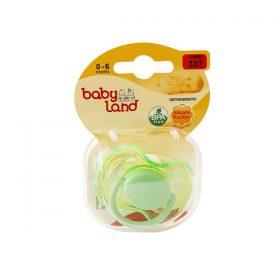 پستانک ارتودنسی بیبی لند کد 387 مناسب نوزادان از بدو تولد تا 6 ماه