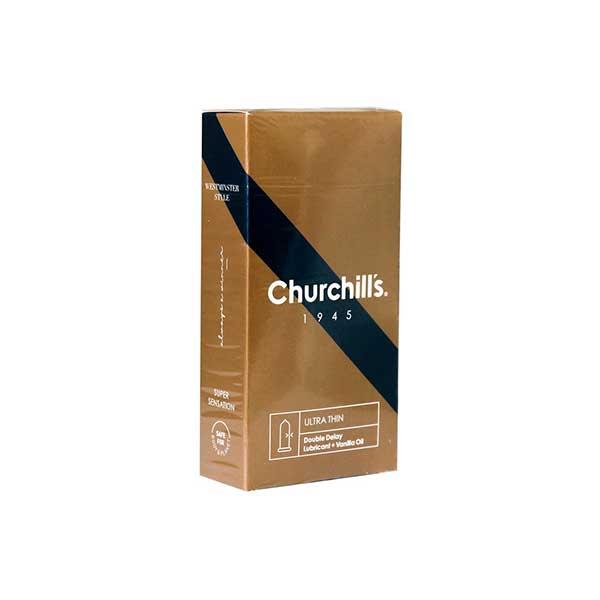 کاندوم فوق العاده نازک چرچیلز حاوی ماده تاخیری 12 عدد