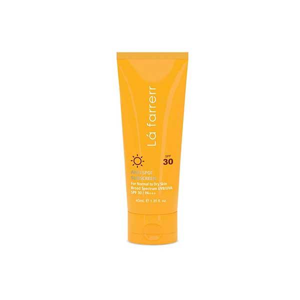 کرم ضد آفتاب SPF30 پوست خشک و معمولی لافارر ضدلک و بدون رنگ 40 میلی لیتر