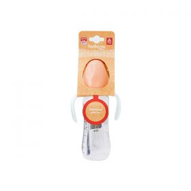 شیشه شیر شادی دسته دار پنبه ریز مناسب نوزادان 2 ماه به بالا 240 میلی لیتر