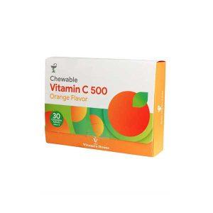قرص جویدنی ویتامین C 500 میلی گرم ویتامین هاوس 30 عدد