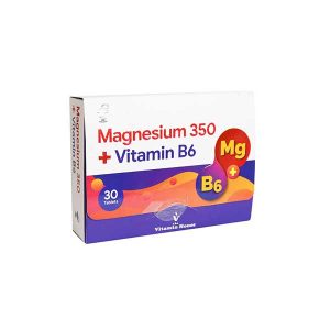 قرص منیزیم 350 و ویتامین ب 6 ویتامین هاوس 30 عدد