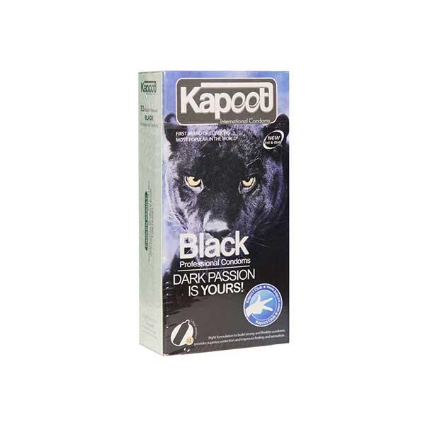 کاندوم تاخیری مشکی کاپوت 12 عدد