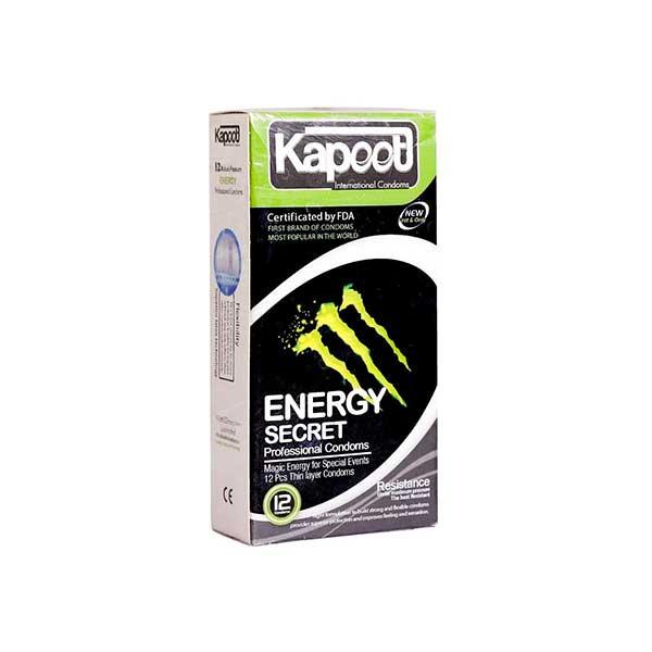 کاندوم کاپوت مدل Energy Secret تعداد 12 عدد