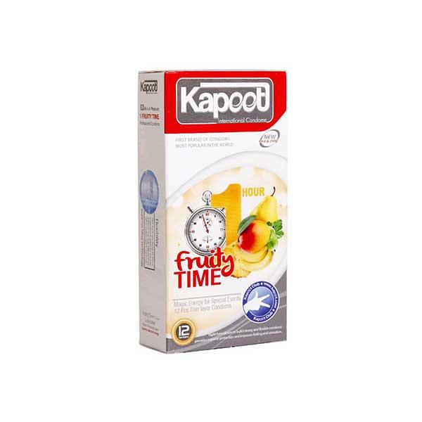 کاندوم تاخیری کاپوت مدل Friuty Time 1Hour تعداد 12 عدد