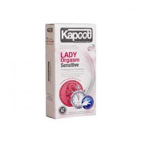 کاندوم کاپوت مدل Lady Orgasm Sensitive تعداد 12 عدد