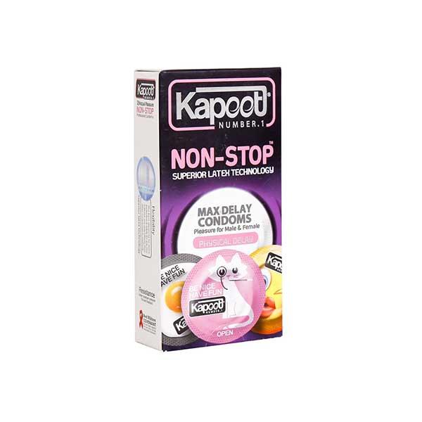 کاندوم تاخیری حلقوی نان استاپ کاپوت 12 عدد