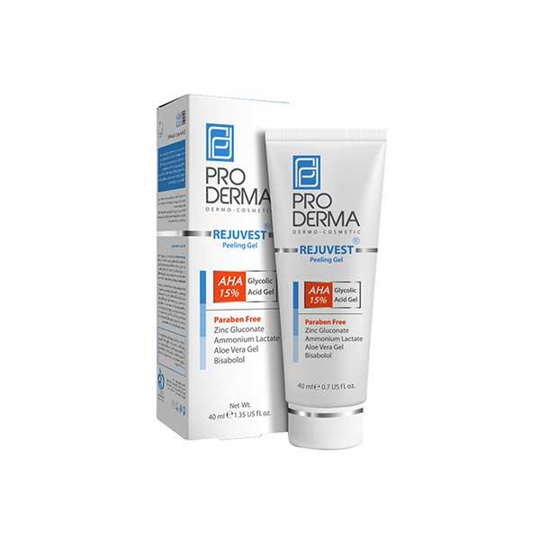 ژل لایه بردار AHA 15 درصد پرودرما مناسب انواع پوست ۴۰ میلی لیتر