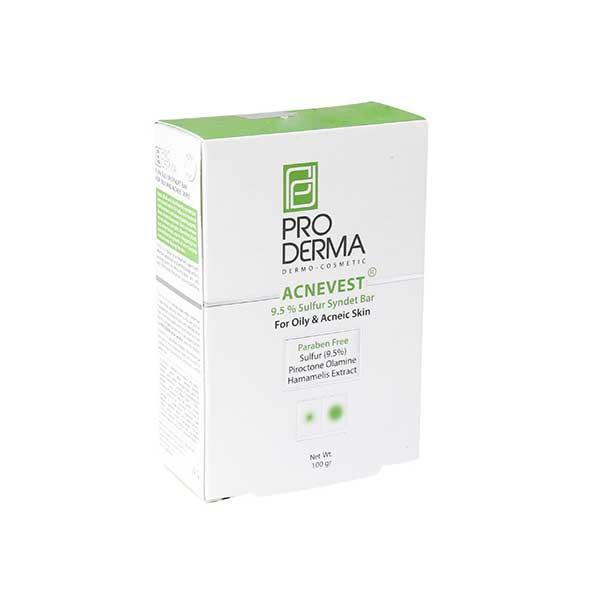 پن حاوی 9.5 درصد گوگرد پرودرما مناسب پوست های چرب و دارای جوش ۱۰۰ گرم