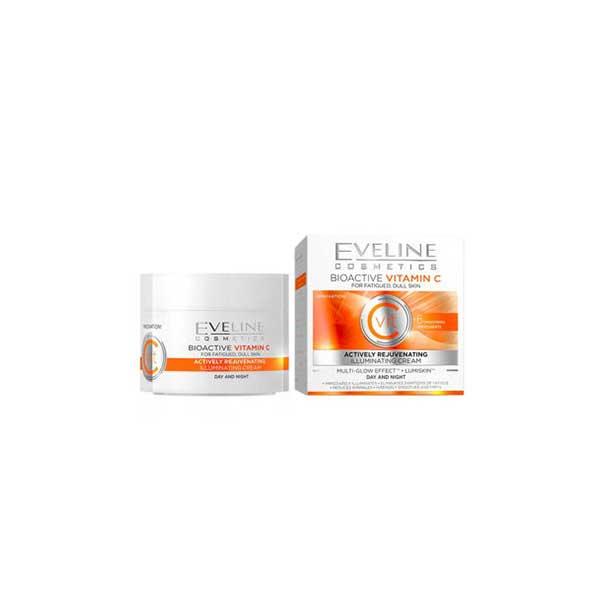 کرم روز و شب روشن کننده Vitamin C اولاین Eveline
