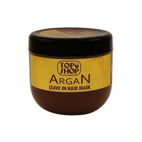 ماسک مو تاپ شاپ حاوی روغن آرگان مناسب انواع مو حجم 500 میل ( بدون نیاز به آبکشی)